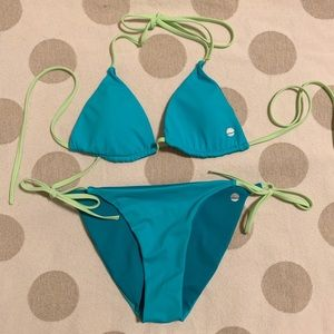 Rip Curl Reversible String Triangle Bikini blue